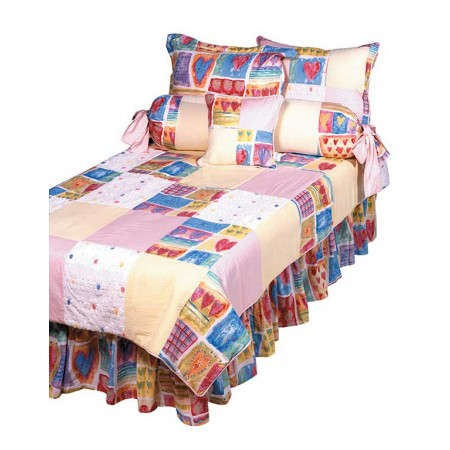 Two Hearts XL Twin Size Comforter - Dorm Bedding by California Kids