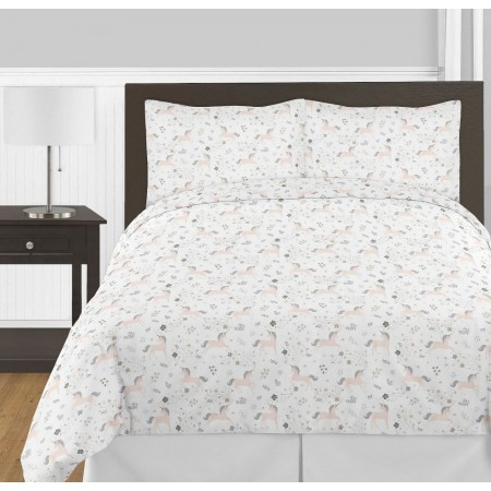 Unicorn Comforter Set - 3 Piece Full/Queen Size By Sweet Jojo Designs