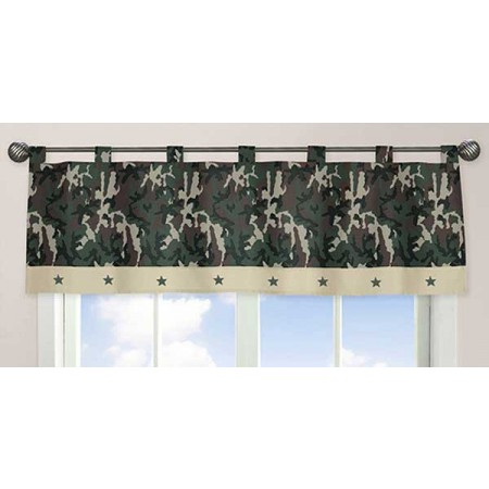 Green Camouflage Valance