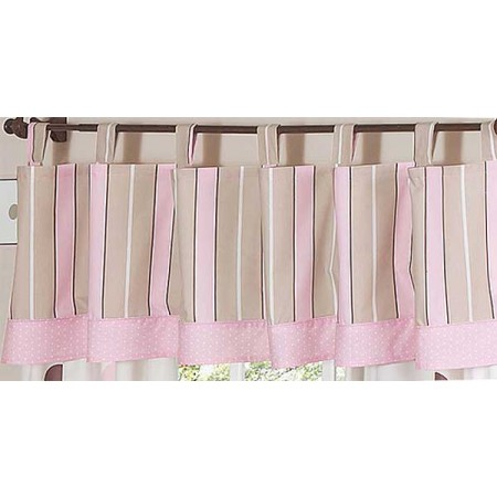 Pink and Brown Mod Dots Valance