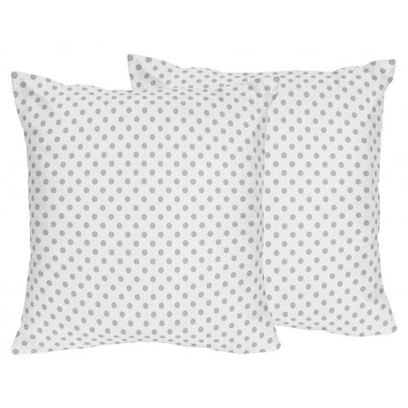 Watercolor Floral Pink and Gray Accent Pillow