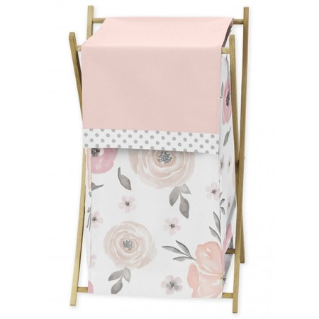 Watercolor Floral Pink and Gray Hamper