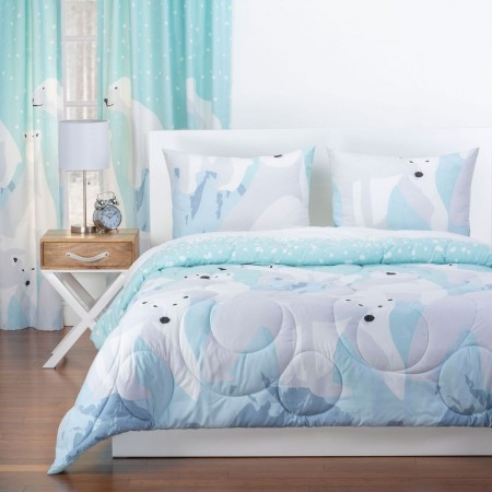 Crayola White Bear Comforter Set - Full/Queen Size