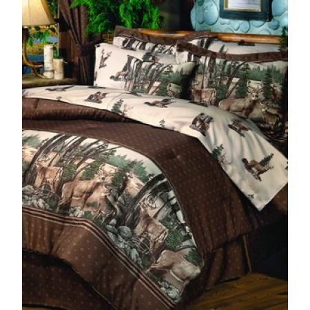 Whitetail Dreams California King Size Comforter Set