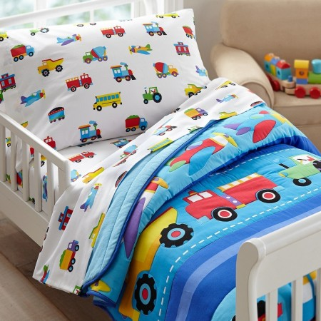 Trains, Planes & Trucks 4 pc Bed in a Bag - Toddler