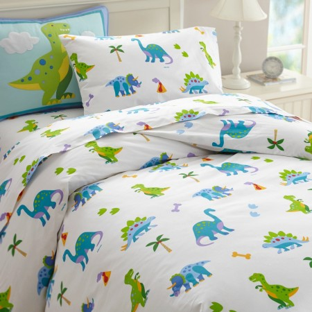 Dinosaur Land Twin Size Duvet Cover by Olive Kids