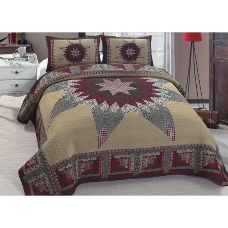 Winter Cove Quilt Set - Full/Queen Size - Includes 2 Pillow Shams