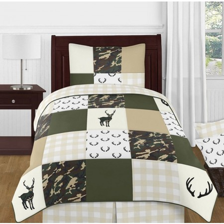 Woodland Camo Bedding Set - 4 Piece Twin Size By Sweet Jojo Designs