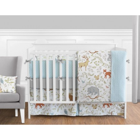 Woodland Toile Crib Set by Sweet Jojo Designs