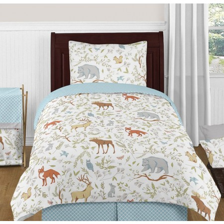 Woodland Toile Bedding Set - 4 Piece Twin Size By Sweet Jojo Designs