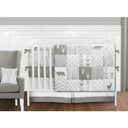 Woodsy Grey & White Crib Set by Sweet Jojo Designs