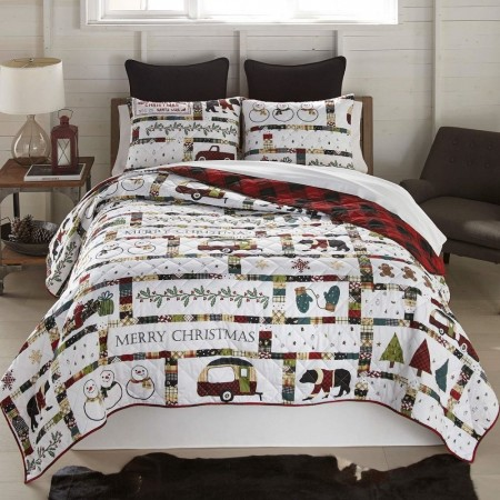 Merry Vacation Quilt Set - Twin Size
