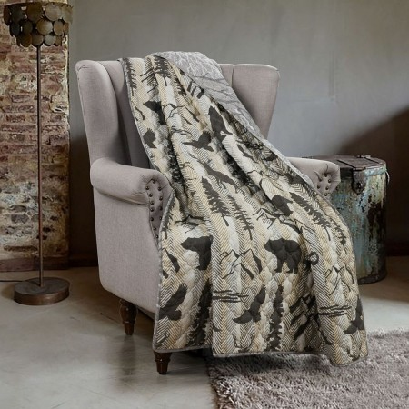 Forest Weave Throw Size Quilt
