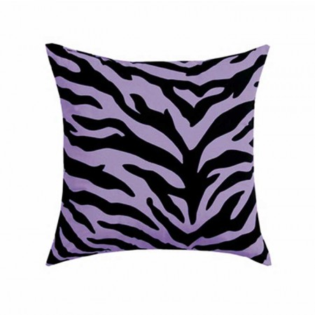 Black & Purple Zebra Square Pillows