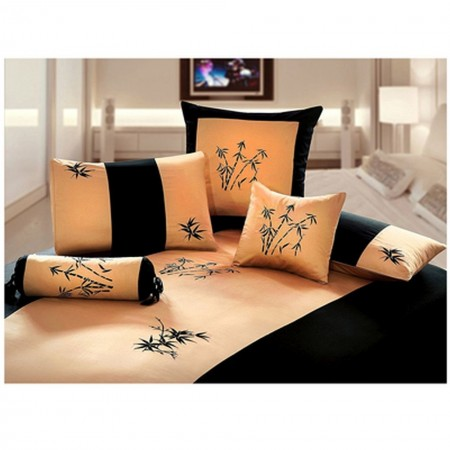 Zen Garden Gold Duvet and Sham Set - King Size