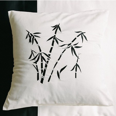 Zen Garden White Decorative Pillow