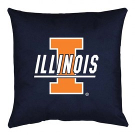 Illinois Fighting Illini Locker Room Toss Pillow - 18 X 18