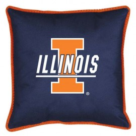 "Illinois Fighting Illini Toss Pillow - 18"" X 18"" Sideline Toss Pillow"