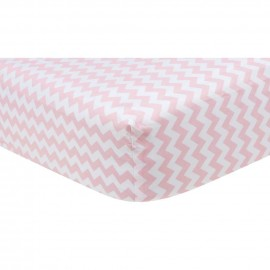 Pink Sky Chevron Fitted Crib Sheet
