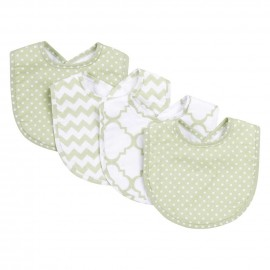 Sea Foam 4 Pack Bib Set