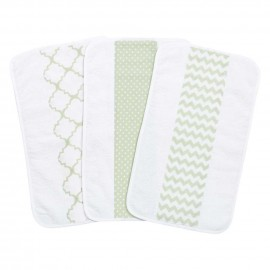 Sea Foam 3 Pack Jumbo Burp Cloth Set