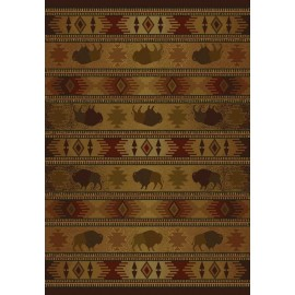 Tatonka Lodge Area Rug - Cabin Themed