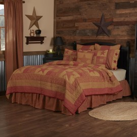 Ninepatch Star Quilt - California King Size Set