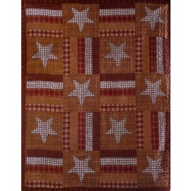 Barnwood Star Throw Size Quilt