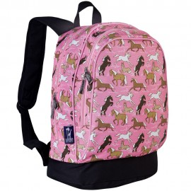 Horses in Pink 15 Inch Backpack