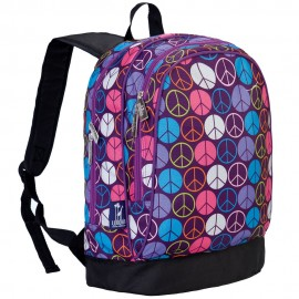 Peace Signs Purple 15 Inch Backpack