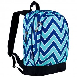 Chevron Blue 15 Inch Backback