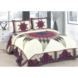 Cabin Star Quilt Set - Full/Queen Size - Includes Shams