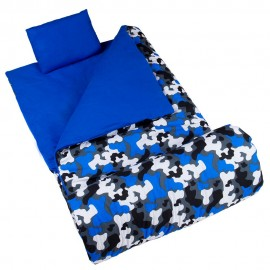 Blue Camo Sleeping Bag by Olive Kids