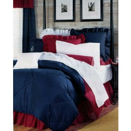 Patriotic Red, White & Blue Bedding Set - Extra Long Twin Size - Great for Dorm Rooms