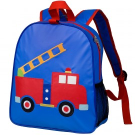 Fire Truck Embroidered Backpack