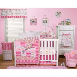 Dr Seuss Oh The Places You'll Go 3 Piece Crib Set - Pink