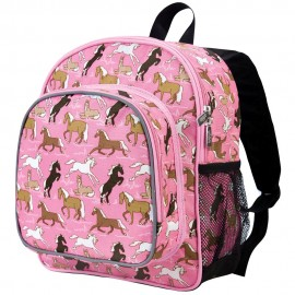 Horses in Pink 12 Inch Backpack