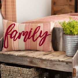 Sawyer Mill Red Family Pillow 14x22