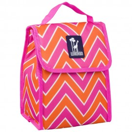 Zigzag Pink Lunch Bag