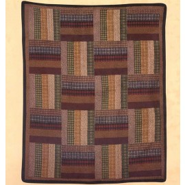 Six Bars Throw Size Quilt - Closeout