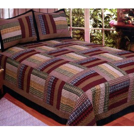 Six Bars Quilt Set - Full/Queen Size - Includes Pillow Shams