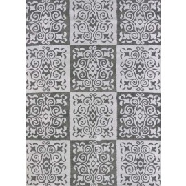 Velvet Cube Silver Area Rug - Transitional Style Area Rug