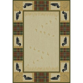 Tartan Loon Natural Area Rug - Cabin Style Area Rug