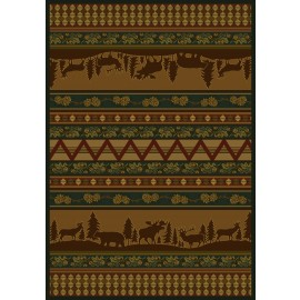 Pine Valley Area Rug - Cabin & Lodge Style