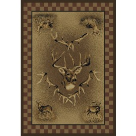 White Tail Ridge Area Rug - Cabin & Lodge Style