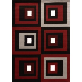 Studio Red Area Rug - Geometric Style Area Rug