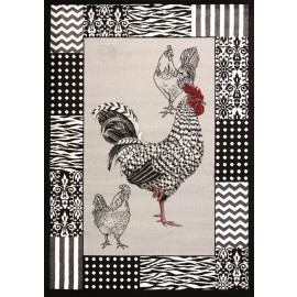 "Bw Rooster Grey Area Rug (94"" X 126"")"