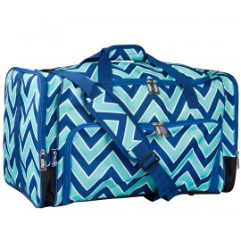 Chevron Blue Weekender Duffel Bag