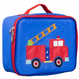 Olive Kids Fire Truck Embroidered Lunch Box