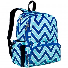 Chevron Blue 17 Inch Backpack